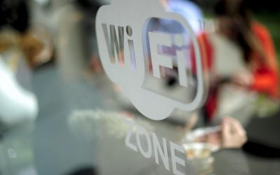 A wifi logo is pictured during the 2014 Mobile World Congress in Barcelona on February 26, 2014 The Mobile World Congress runs from the 24 to 27 February where participants and visitors alike can attend conferences, network, discover cutting-edge products and technologies at among the 1,700 exhibitors as well as seek industry opportunities and make deals.  AFP PHOTO / JOSEP LAGO (Photo by JOSEP LAGO / AFP)